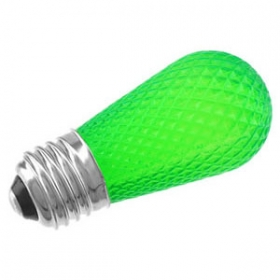 LED/S14/FACETED/GREEN 120V
